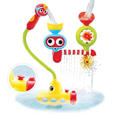 Yookidoo Bath Toy - Submarine Spray Station - Battery Operated Water Pump with Hand Shower and More: Toys & Games