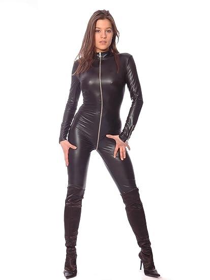 C03902 Wetlook Kunstleder Overall Wetlook Overall Sweety Patrice Catanzaro Catsuit Leder Anzug