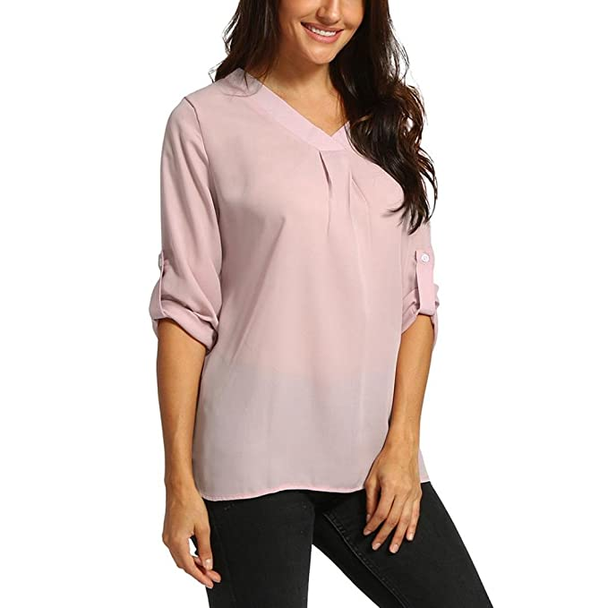 3323e7bc63835 Amazon.com  Basic Knot Tie Front Tops AfterSo Womens Blouses T ...