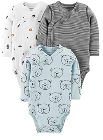 c50e9d1f06f9 Amazon.com  Carter s Baby Boys  3-Pack Side-Snap Bodysuits  Clothing