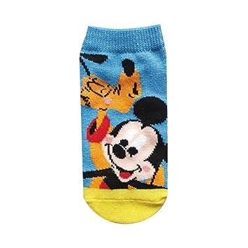 calcetines de los ni?os de Disney Mickey Mouse y Pluto azul 13cm amarilla ~ AWDS4359J 18cm: Amazon.es: Juguetes y juegos