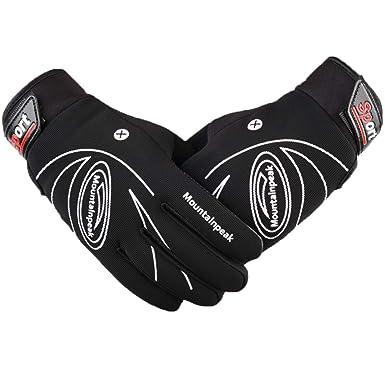 9ff4cc08e84dec LAOWWO Herren Handschuhe Outdoor Sport Running Skifahren Fahrradhandschuhe  Touchscreen Gloves für Winter Herbst oder Frühling