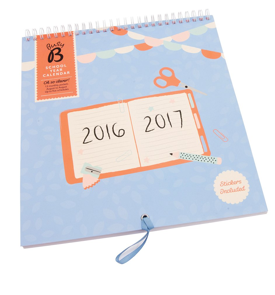 How to scrapbook school years - Busy B School Year Calendar 2016 2017 With Monthly Pocket
