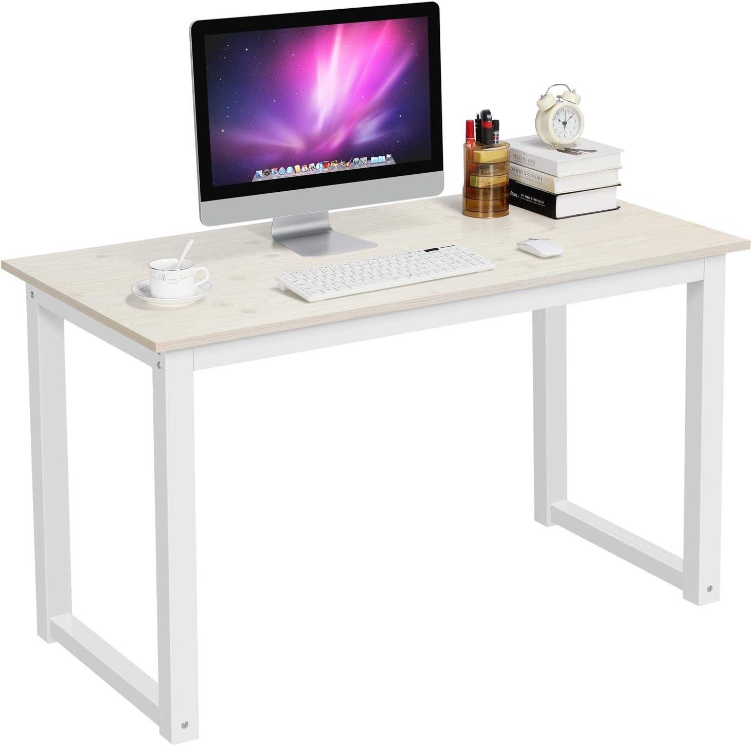 - Amazon.com: Yaheetech Modern Computer Desk Writing Study Table