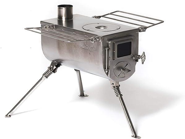 avec GRATUIT outbacker portable en bois Combustion Poêle pour cloche Tente tipi