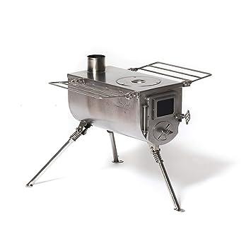 Estufa de carpa grande Winnerwell Woodlander | Estufa de leña portátil para tiendas de campaña, refugios y campamentos | Caja de fuego de 1500 pulgadas ...