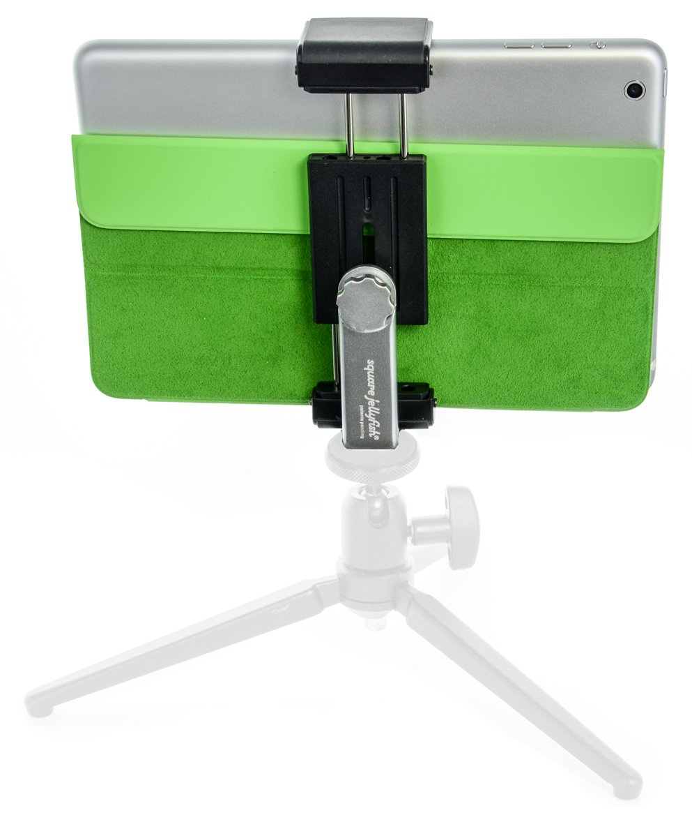 Square jellyfish iPad mini tripod mount holds all tablets up to 7 inches