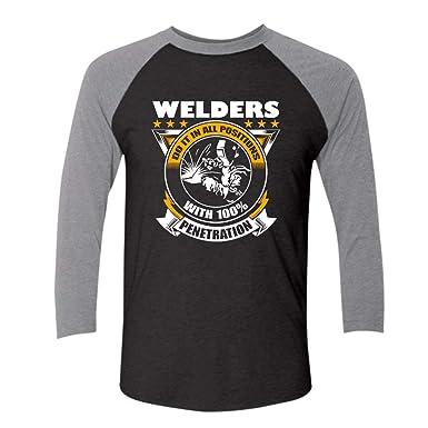 Amazon Com Welders Do It In All Positions Raglan Baseball Shirt