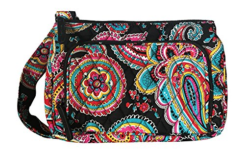 Vera Bradley Little Hipster with Solid Interiors (Parisian Paisley with solid lining)