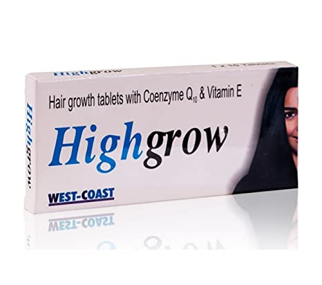 c72f12d9c552 Buy Healthvit Highgrow Hair Supplement (Biotin, CoQ-10 & Vitamin E) 10  tablets Online at Low Prices in India - Amazon.in