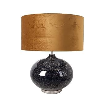 Ocre Vandeheg® Lampe Table Soufflé Marmore Verre Bouche De Velours LqUzpGMSV