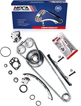ECCPP 13028-9E010 Timing Chain Kits with Crank Sprocket fits for 1998 1999 2000 2001 Nissan Altima 2.4L 2389CC l4 GAS DOHC Naturally Aspirated