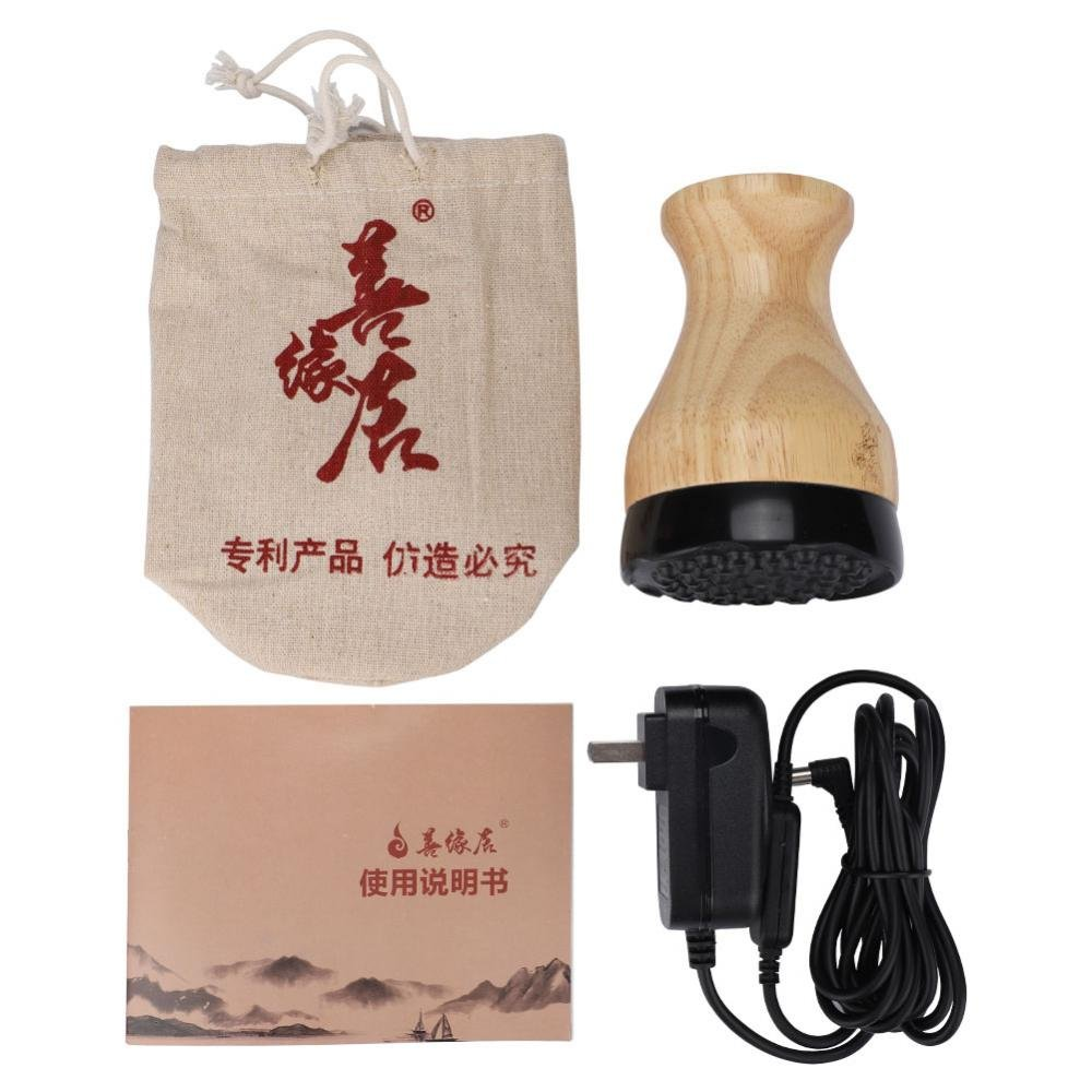 Moxibustion Massager, Far Infrared Thermal Stone Needle Scraping Moxibustion Warm Physical Therapy Massager by ZJchao