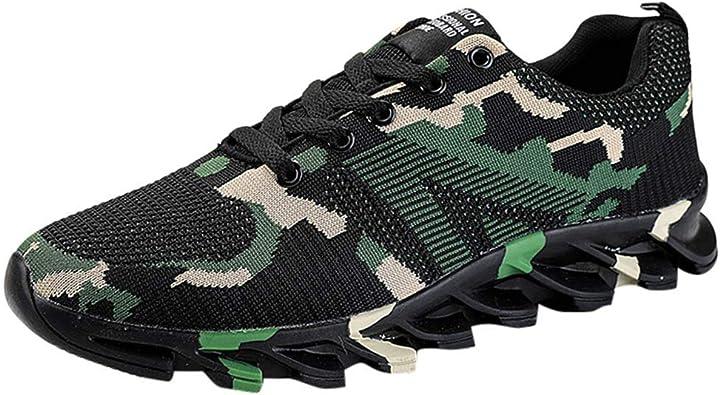 Sayla Zapatos Casual Moda De Los Hombres Invierno Zapatillas Deportivas De Running De Camuflaje De LáMina Transpirable: Amazon.es: Zapatos y complementos