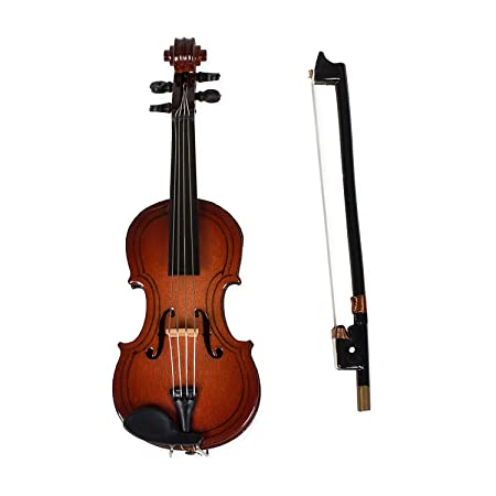 Broadway Gifts Violin Miniature with Case,Brown,1.5 x 4