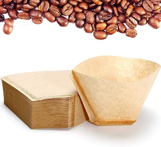 Nuluxi Filtros de Café de Papel Cónico Papel de Filtro de Café Americano Marrón - Filtros de