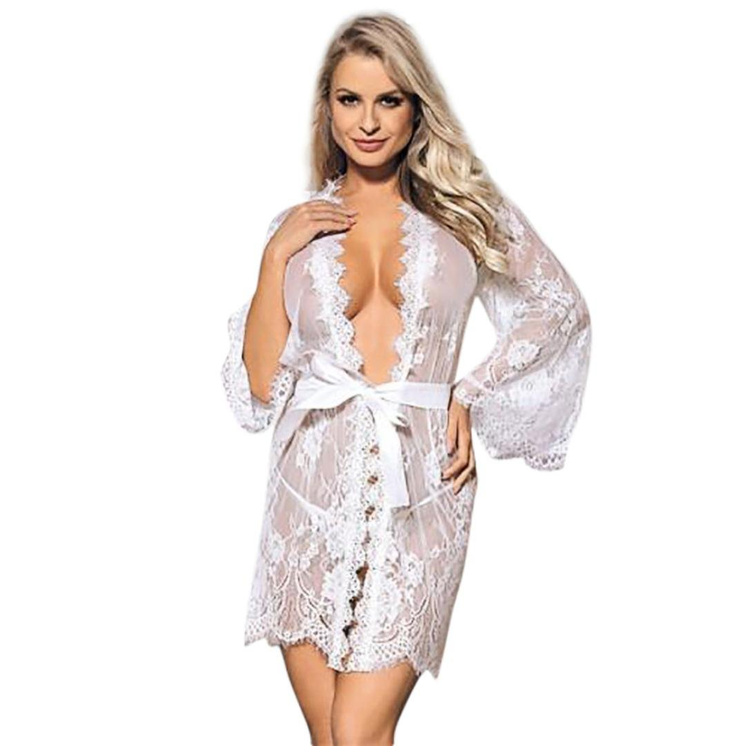Morwind Pijamas Mujer Verano, Ropa Interior Mujer Muy Transparente Camisones Tallas Grandes Lenceria Encaje Picardias Mujer eroticas Bodysuit Mujer Tops ...