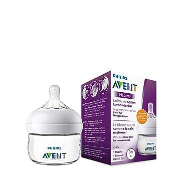1er Pack Anti-Kolik-System 120 ml naturnahes Trinkverhalten Philips Avent Natural Flasche SCF051//17 aus Glas