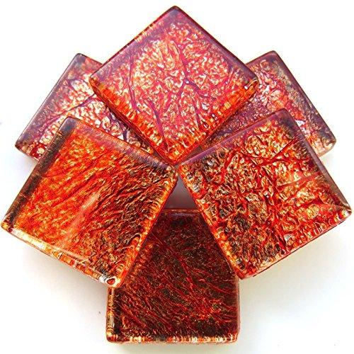 Craft Mosaic tiles - 20mm - 49 tiles Foil - Amber Hobby Island