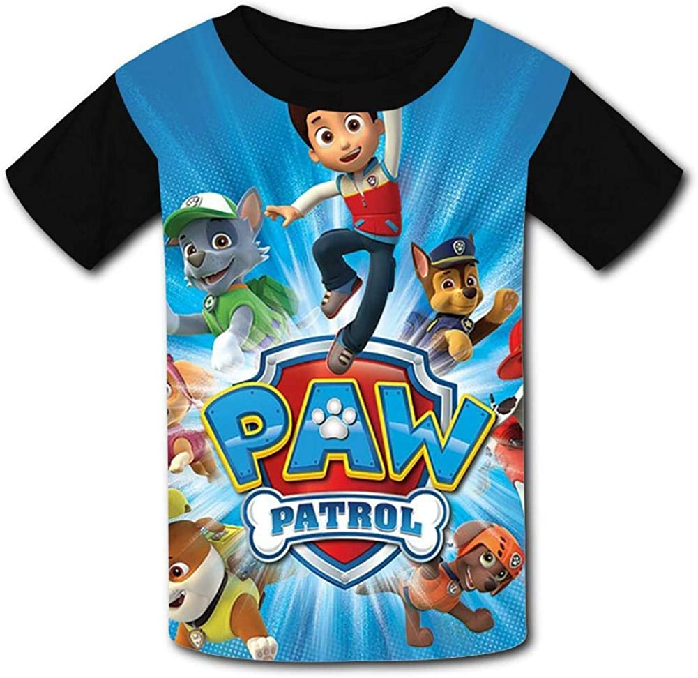 NJLLOS P-Aw Pat-Rol Kid//Youth T-Shirts 3D Casual Short Sleeve O-Neck Tees