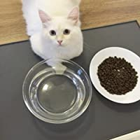 CONMING Alfombrilla para alimentos para mascotas FDA Alimentación