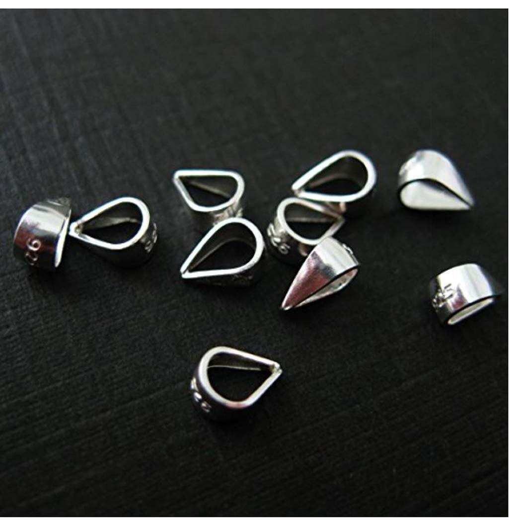 20p 12//18mm Silver Gold Triangle Clasp Jump Ring Bail Pinch bail jewelry finding