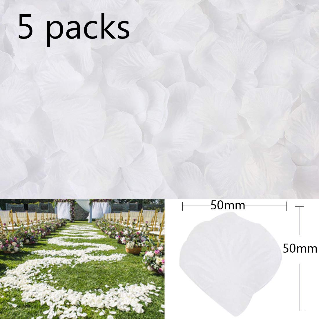 Godagoda Wedding Supplies Simulation Petals Rose Petals Wedding Room Decorated Decoration Fake Flowers Wedding Supplies 500pcs