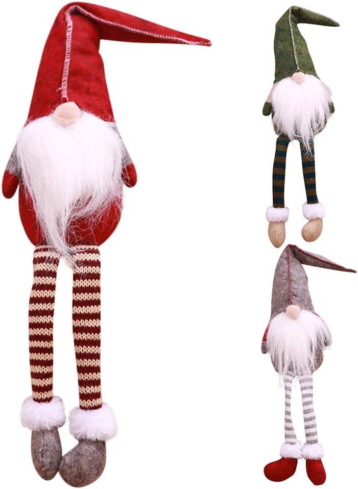 Santa Nisse Scandinave en Peluche D/écorations de Maison Bureau Cadeau Anniversaire F/ête pour Enfant Famille Rouge PanDaDa Handmade Swedish Tomte