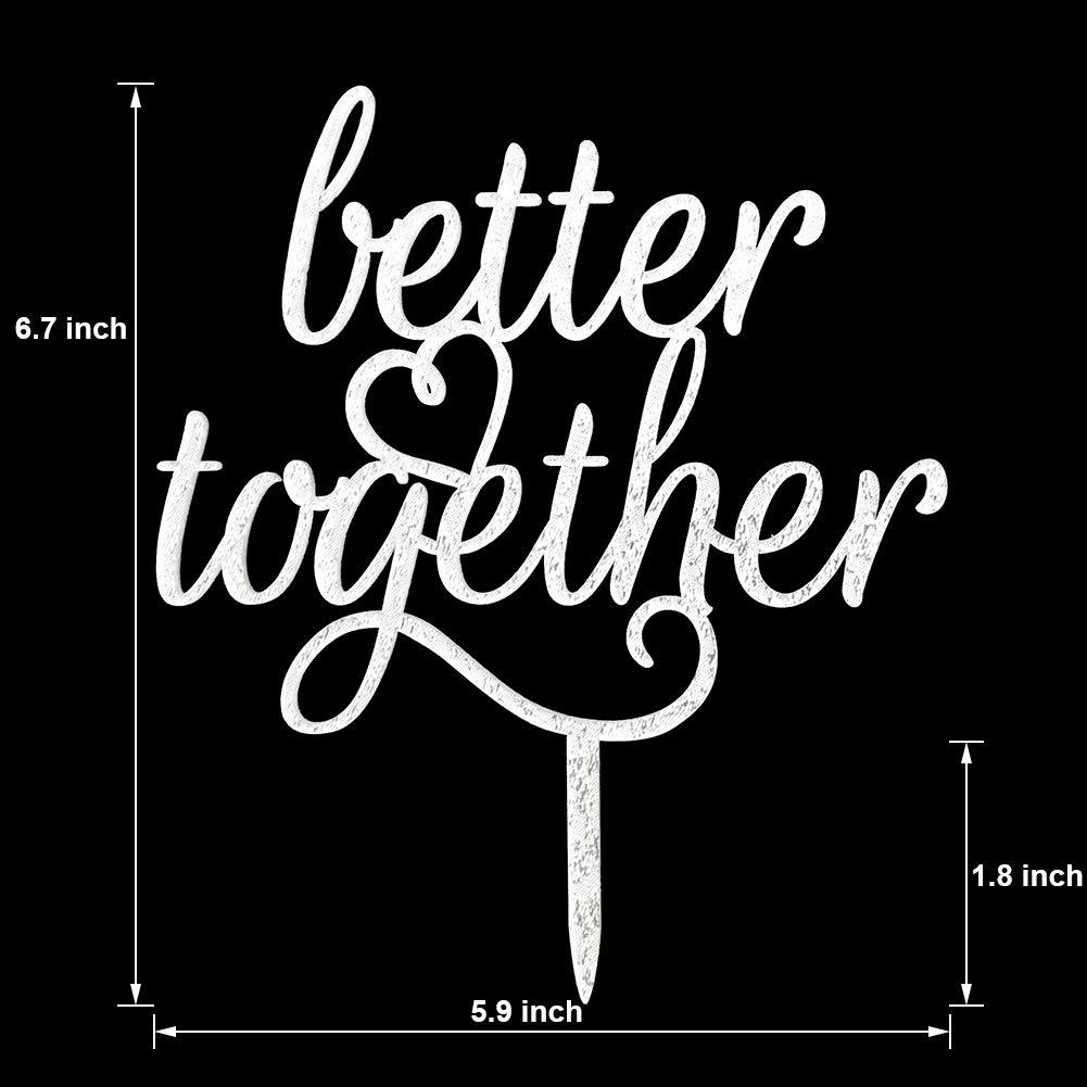 Better Together Cake Topper Black
