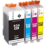 GPC Image Compatible Ink Cartridge Replacement for 934XL 935XL 934 XL 935 XL (Updated Chip) for Officejet Pro 6830 6230 6812 6835 6815 6820 6220 4 Pack (1 Black, 1 Cyan, 1 Magenta, 1 Yellow)