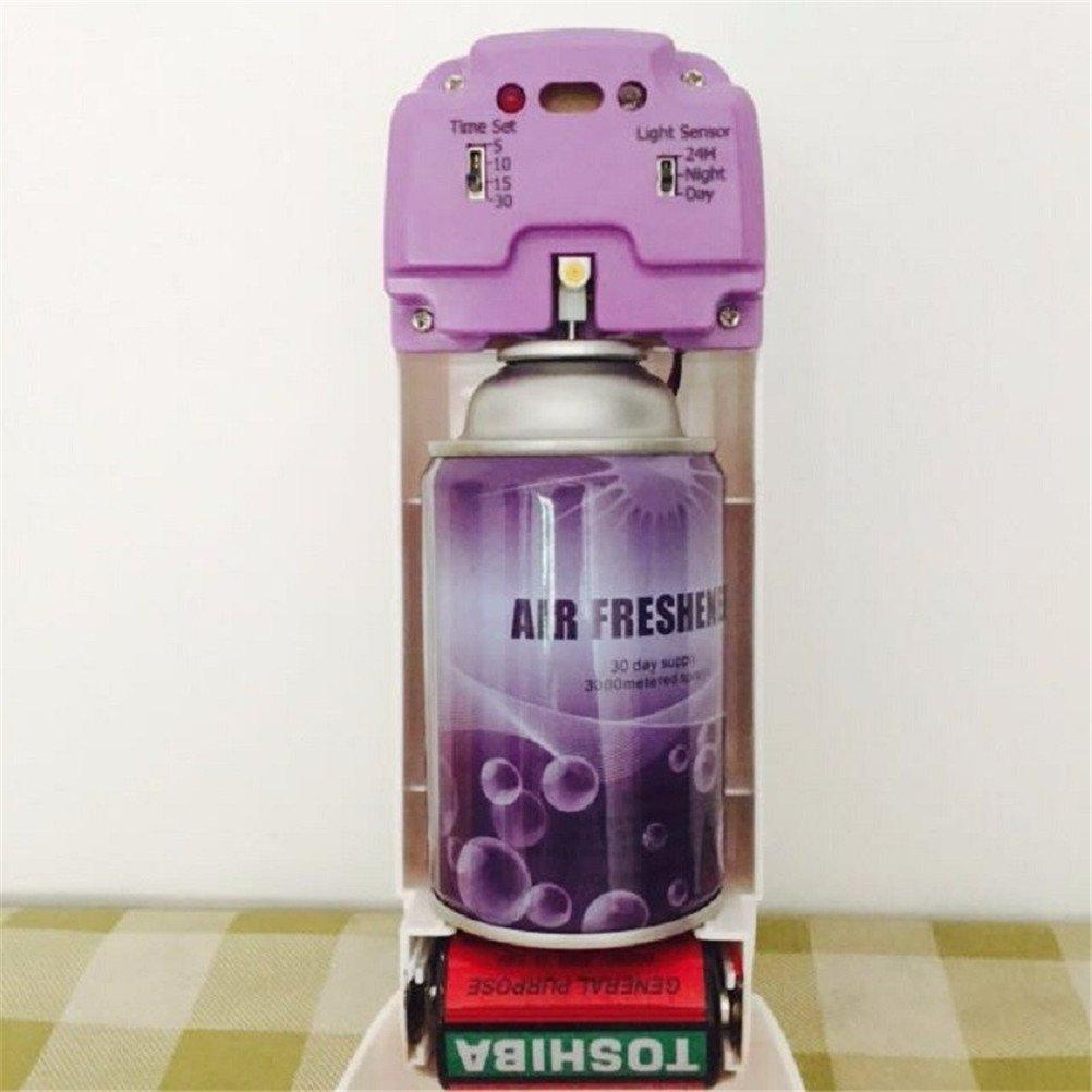 Luz Senser pulverizador de fragancia ambientador automático aerosol dispensador montado en la pared auto para inodoro aerosol 300 ml dispensador de perfume ...