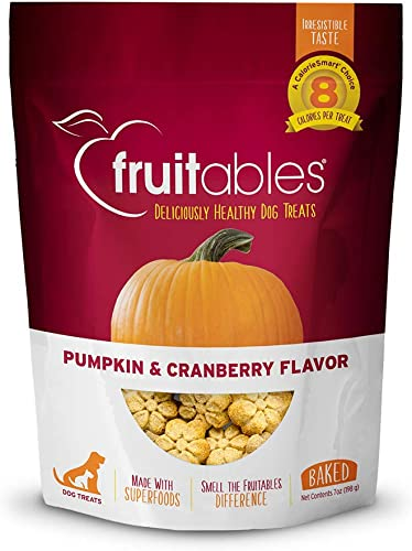 Fruitables Baked Dog Treats Pumpkin Cranberry Flavor 7 Oz