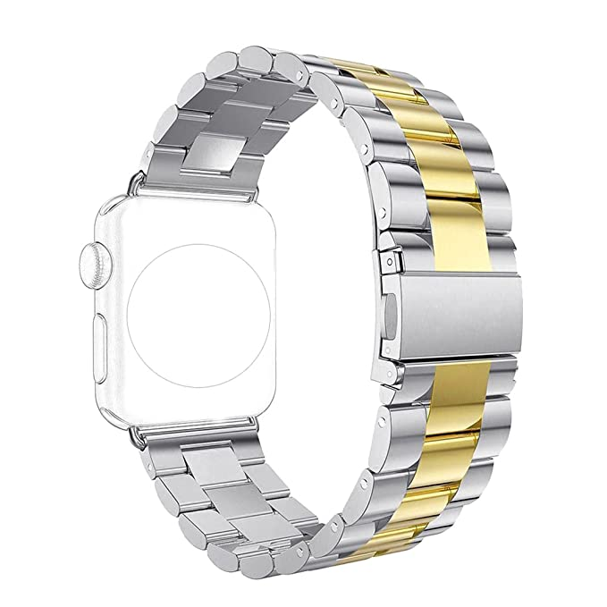 Band for Apple iWatch 42MM, Rosa Schleife Apple Watch Band 42mm Stainless Steel Smart Watch Replacement Bands with Metal Clasp Buckle Strap Wristband ...