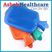 Asbob® Hot Water Bag/Bottle Non-Electrical for Pain Relief (2 Litre - Assorted Colour)