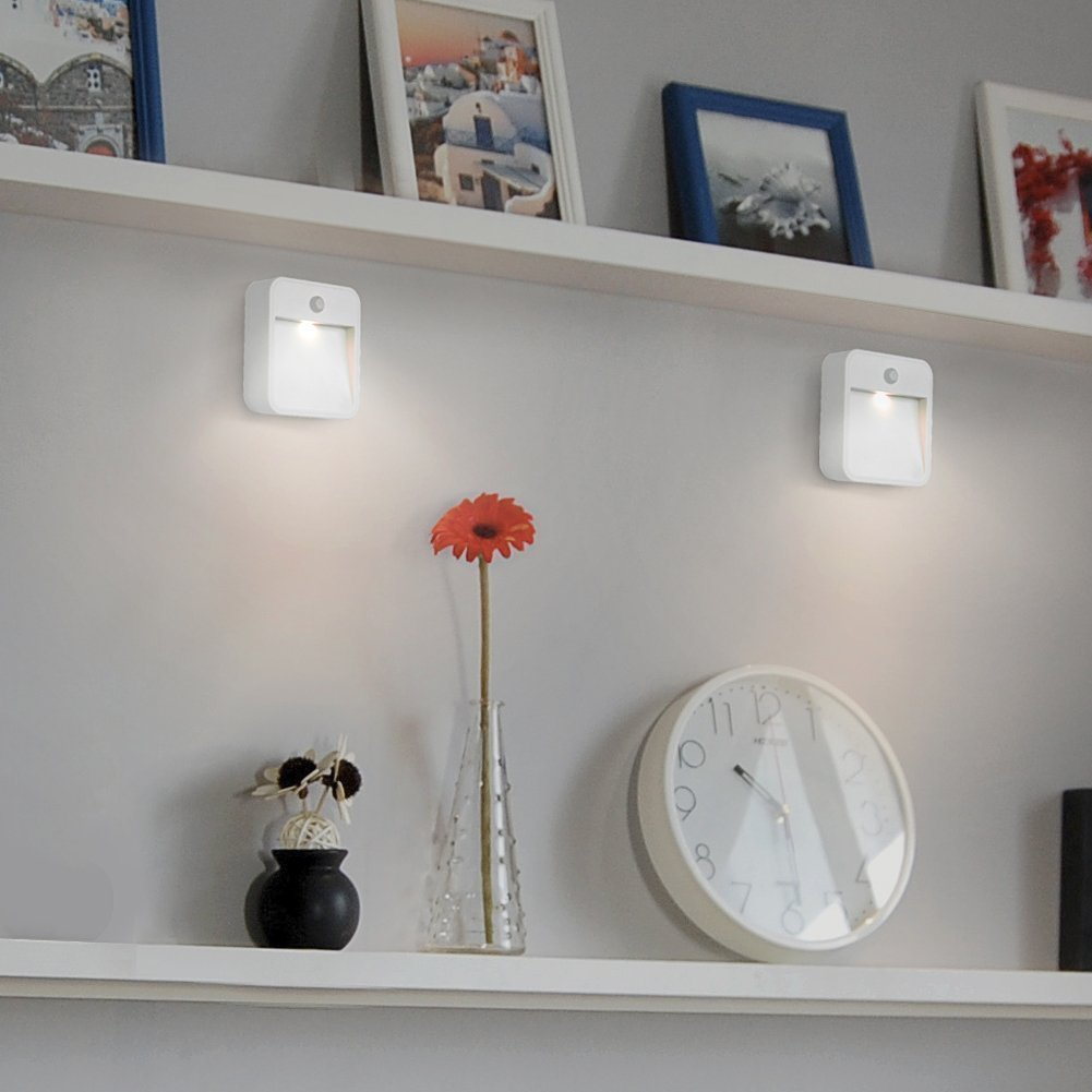 Motion Sensing LED Light, Battery Powered Waterproof Sensor Lamp With Free Adhesive Tape Light Induction Nightlight for Hallway, Stairway, Washroom, Wardrobe, Closet,Balcony