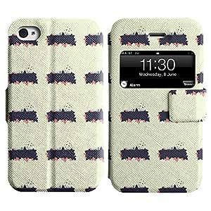 LEOCASE modelo lindo Funda Carcasa Cuero Tapa Case Para Apple iPhone 4 / 4S No.1003882