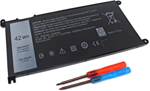 Easy&Fine 42WH WDX0R DELL Laptop Battery Compatible with Dell Inspiron 13 5000 5368 5378 5379 13 7000 7368 7378 15 5000 5538 5565 5567 15 7000 7560 7570 7573 Series Notebook Battery 3CRH3 T2JX4 CYMGM