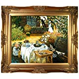 overstockArt Monet The Luncheon Painting with Victorian Gold Finish Frame
