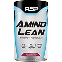 RSP AminoLean - All-in-One Pre Workout, Amino Energy, Weight Loss Supplement with Amino Acids, Complete Preworkout Energy & Natural Fat Burner for Men & Women, Blackberry Pomegranate, 70 Servings