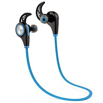 5ive® Auriculares Bluetooth Deporte Cascos Inalambricos para Correr Bluetooth V4.1 Inalámbrico Sport Auriculares con Micrófono llamadas Manos Libres (Azul): ...