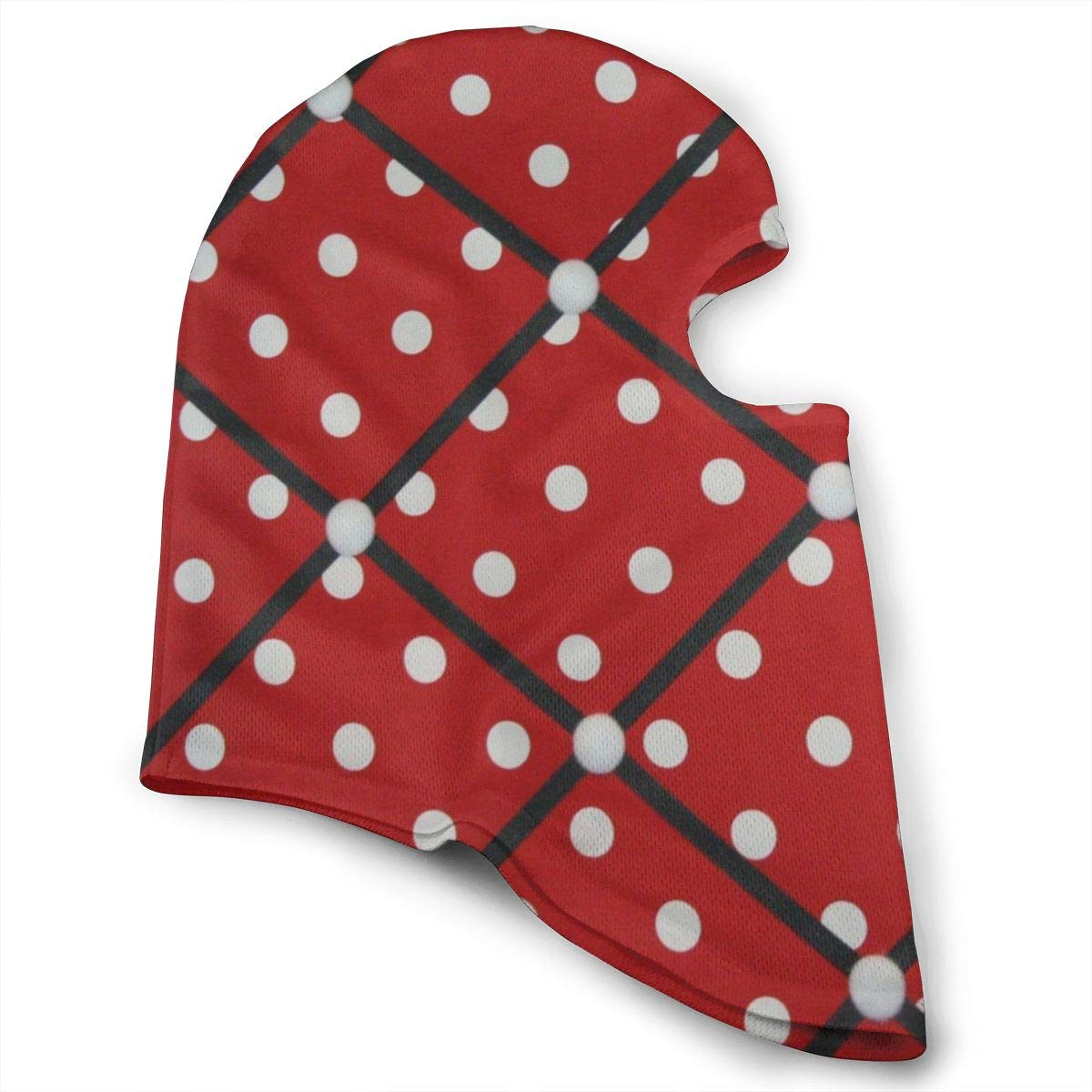 LoveBea Balaclava Red White Polka Dot Full Face Masks Ski Headcover Motorcycle Hood Cycling Sports Mountaineering