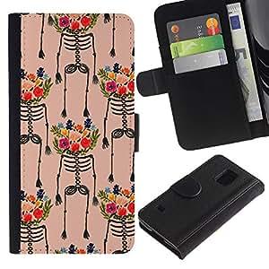 iBinBang / Flip Funda de Cuero Case Cover - Art Flowers Painting Colorful - Samsung Galaxy S5 V SM-G900