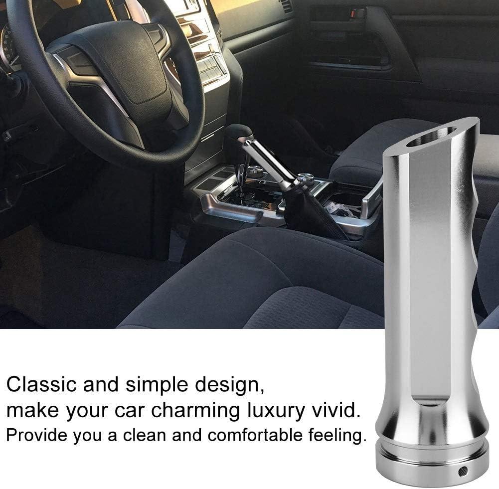 KSTE Plata Auto Universal de Aluminio del Coche Freno de Mano manija de la Cubierta del Protector de la Mano de la Manga de Freno