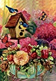 Morigins Fabulous Flowers Decorative Birds Butterfly Spring House Flag 28''x40''