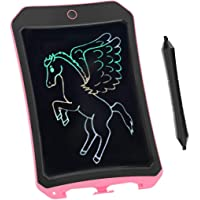 BIBOYELF Colorful LCD Writing Tablet for Kids Toys for 3-12 Years Old Girls, 8.5 inch Drawing and Writing Board with Lock Erase Button for Adults for School and Office(Pink)