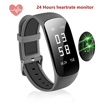 Tophousse Montre Connectée, Fitness Tracker dActivité avec Cardiofréquencemètre Smartwatch Sport Femme Homme Enfant