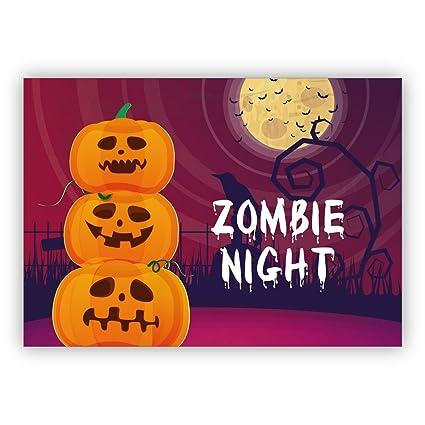 Conjunto De 16 Tarjeta De Invitación De Halloween