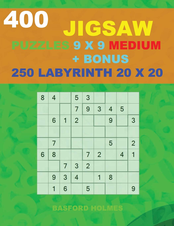 photograph relating to Irregular Sudoku Printable identified as 400 JIGSAW puzzles 9 x 9 MEDIUM + Reward 250 LABYRINTH 20 x