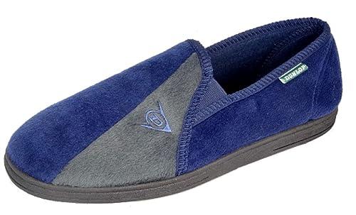 Zapatillas de casa de hombre Dunlop Winston II, con suela suave super confortable, color Azul, talla 47 EU: Amazon.es: Zapatos y complementos