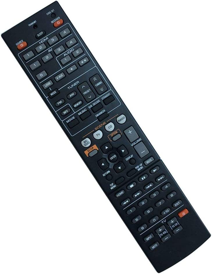 Easy Replacement Remote Control Fit for Yamaha HTR-4064 RX-V471 YHT-693 YHT-593BL RX-V471BL AV A//V Receiver